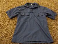 Vietnam 1971 US navy blue dungaree shirt short sleeve NOS unissued