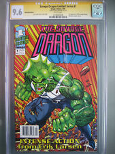 Savage Dragon #1 Newsstand UPC CGC 9.6 SS **Signed Erik Larsen** 1st Print