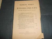 1931 RASSEGNA STORICA DEL RISORGIMENTO DUCA D'AOSTA MESSAGGIO LINCOLN A MELONI
