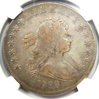 1798 Draped Bust Silver Dollar $1 Coin - Certified NGC VF Details - Rare!