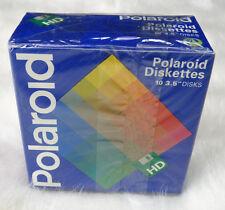 "NEW Sealed Polaroid Diskettes 10 Pack 3.5"" Disks Floppy Discs MF2 HD"