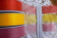 Chiffon Sparkle Shiny 38mm Wide 3,5&10 MetreLength 3 colour Choice Ribbon CF H6B