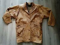 Vintage UCL Brown Leather Jacket - L