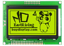 Low Cost 12864 128x64 Graphic Lcd Module Display Yellow Black Color