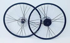 26 Inch Bike Wheels Quick Release 8 Speed Shimano Cassette Colour Spokes