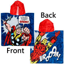 Marvel Thor and Iron Man The Avengers Hooded Towel Blue   Kids Hooded Poncho