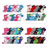 TeeHee Socks Women's Valued 10 Pack Fashion No Show Cotton Socks Low Cut
