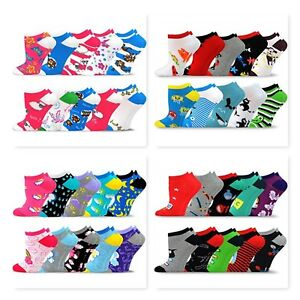 TeeHee Socks Women's Valued 10 Pack Fashion No Show Cotton Socks Low Cut