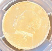 1914 China Silver 50 Cent Coin Yuan Shih Kai PCGS L&M-64 AU Details