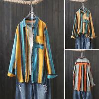 ZANZEA Women Long Sleeve Button Shirt Casual Baggy Oversize Tops Blouse Outwear