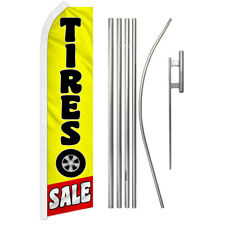 Tires Sale Swooper Advertising Feather Flutter Flag Pole Kit Auto Tire Sale