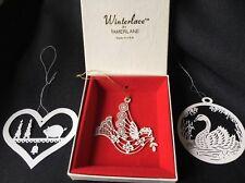 Winterlace Tamerlane Dove swan pig White Metal Xmas Ornament Winter Lace Lot 3