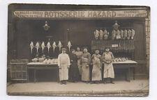 CARTE PHOTO Rotisserie Hazard Boucher Petit Métier Commerçant Artisan 1910 Paris