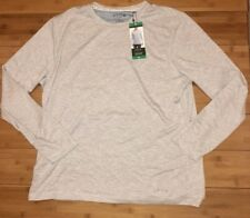 Orvis Long Sleeve Layering Crew Neck White/Grey Striped NWT XL