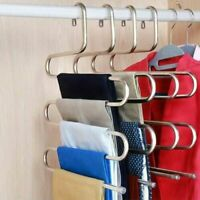 Multi-functional S-type trouser rack stainless steel multi-layer trouser hanger