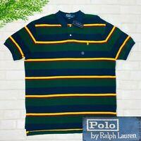 Polo Ralph Lauren NWT Bold Multicolor Stripe Short Sleeve Polo Shirt Mens XL