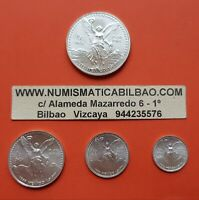 MEXICO 1/2 1/4 1/10 1/20 ONZA 1995 Serie LIBERTAD UNC 4x SILVER COINS OZ Mejico