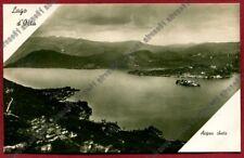 NOVARA PELLA 33 ALZO - LAGO D'ORTA - ISOLA SAN GIULIO Cartolina REAL PHOTO 1935