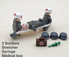3 figurine Militaire Allemand WW2  médical infirmier compatible avec Lego