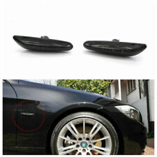 Black LED Side Marker Light Turn Signal Lamp For BMW E46 E82 E83 E60 E90 E91 E92