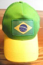 Brazil Rio 2016 Olympic Soccer Baseball Cap, Hat, Mesh Back, Snapback, EUC