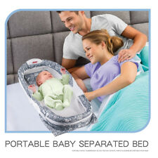Baby Cot Crib Bed Nest Snuggle Matress Surround Portable Light Music Large
