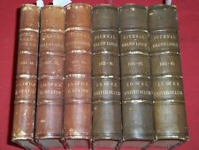 1844-1867 GRAND LODGE OF ODD FELLOWS IN UNITED STATES VOLUME LOT OF 6 - KD 118