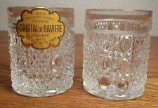 Antique GARANTI Cristal De Baviere Diamond and Button Shot Glasses