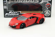Lykan HyperSport dal film Fast and Furious 7 2015 ROSSO 1:18 Jada Toys