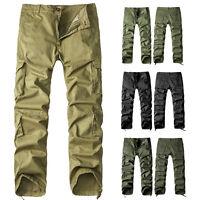 Neu Herren Baumwolle Cargo Hose Pants Military Stil Freizeit lang Army Hosen 34