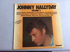 Johnny HALLYDAY vinyle 33 tours Volume 2 Enregistrements originaux PARFAIT ÉTAT