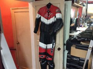 Alpine stars motorcycle leathers full suit