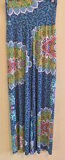 Blue Stretch Mandala Yoga Wide Leg Pants Trousers Wide Sash Band M Or L
