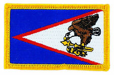 FLAG PATCH PATCHES American Samoa  IRON ON EMBROIDERED UNITED STATES USA STATE