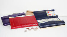 Eel Skin Leather Deluxe Checkbook Coin Checkbook Holder French Clutch Wallet