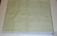 Sage green Ivory white flowers VALANCE flowers thick cotton blue plaid band NEW