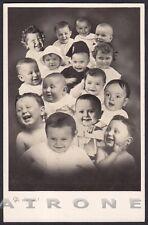 FASCISMO 21 BAMBINI FASCISTI - GLI OTTIMISTI ! Cartolina FOTOGR. viaggiata 1936