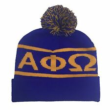 Alpha Phi Omega Knit Beanie Pom Winter Hat APO