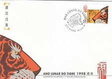 Macau Stamp FDC 1998 Year of the Tiger + MS MO137933