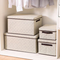 1PCS Foldable Storage Box Fabric Storage Home Organizer Handle Lid Storage New