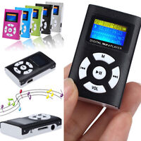US_ MP3 Music Player With Digital LCD Screen Mini Clip Support 32GB Micro SD TF