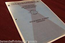 1972 Oldsmobile Olds 88 98 Toronado Comfortron AC Auto Contol Manual Booklet GM