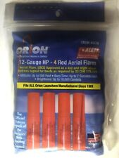 NEW Orion 12-Gauge HP-4 Red Aerial Flares #539 Boat Distress Signal EXP 12/2022