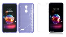 PURPLE S-LINE TPU CASE+ CLEAR TEMPERED GLASS SCREEN PROTECTOR FOR LG PREMIER PRO