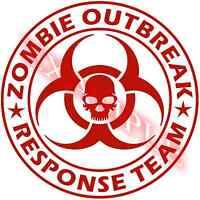 Vinyl Decal Zombie Outbreak Response Team Pick Color Size Bio Hazard Car Window