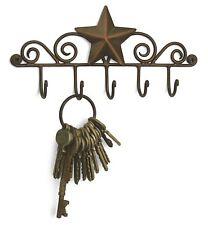 Star Key Hook Hanger Holder Wall Mount Aged Copper Rustic Western American Decor