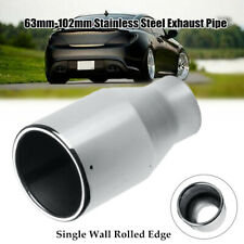 """2.5"""" Inlet 4"""" Outlet Car SUV Exhaust Pipe Tail throat Muffler End Tips Universal"""