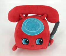 """Moose Shopkins Plush Chatter Phone 6"""" Red Stuffed Animal Play Toy 2016"""