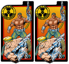 Total Carnage Arcade Side Art Panels Cabinet Graphics Stickers Reproduction