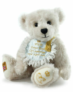"""SAVE! LOUIS ARTHUR CHARLES, ROYAL BABY TEDDY by Merrythought 12"""" LtdEd - NEW!"""